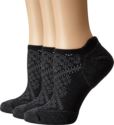 Smartwool Women's PhD Run Elite Micro 3-Pair Pack Black Medium