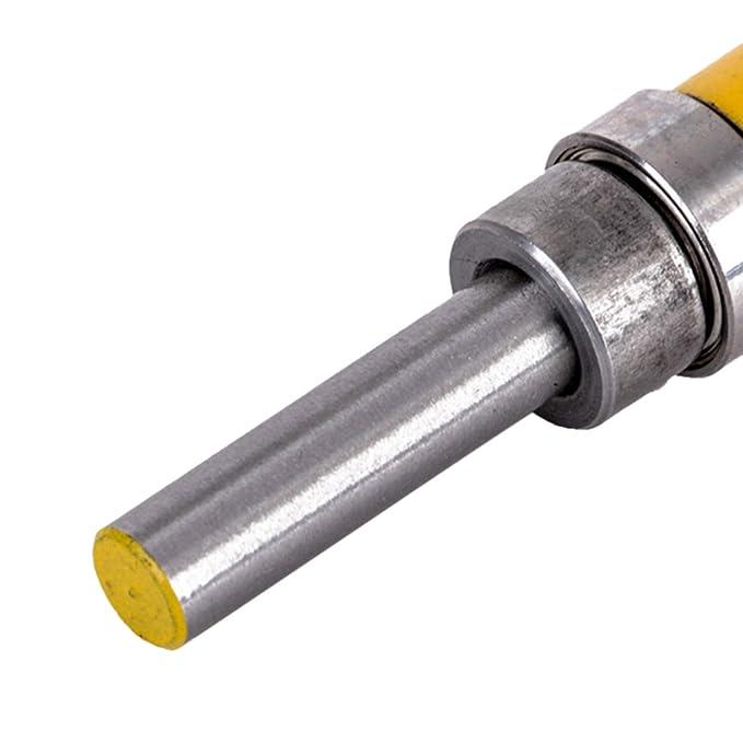 MagiDeal 1//4 6.35mm Cojinete de Fresa con Ranura de Rodamiento de Cojinete de V/ástago Superior