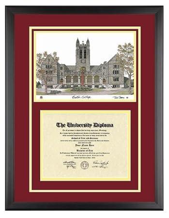 Amazon.com: BOSTON COLLEGE Diploma Frame with Artwork in Classic ...