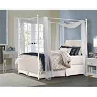 Hillsdale McArthur Full Panel Canopy Bed in Oatmeal