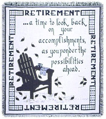 - Simply Home Retirement A Gift To Remember Retiring Goodbye Afghan Throw 48