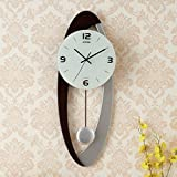Cheap 10 inches living room modern minimalist fashion European creative arts pendulum clock mute clock