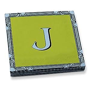 Epic Products Letter 'J' Beverage Napkins (20 Pack), Multicolor