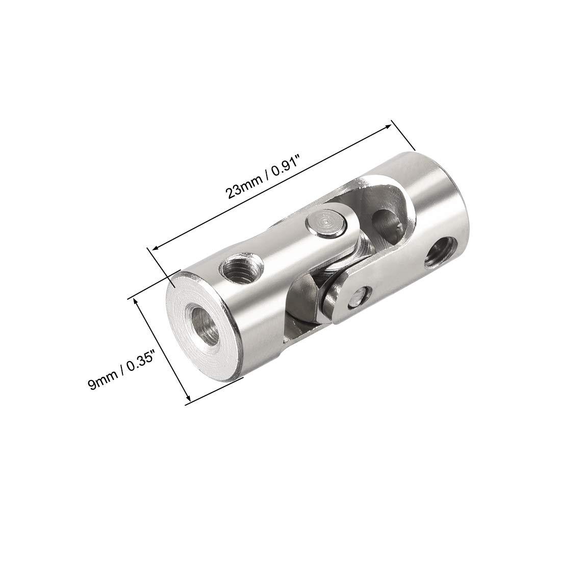 sourcing map 2Stk.drehbare Universal Lenkwellenkupplungskupplung L24XD11 5mm bis 6mm