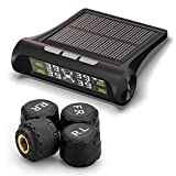 Solar Wireless Tire Pressure Monitoring System +4 External Sensors for Home Car,Digital Color Screen 99Psi, Ip67 Waterproof for Car Motorcycle Car Truck