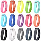Austrake 15Pcs Large Replacement Bands for Fitbit Flex Wristband (15PCS Bands, Large)