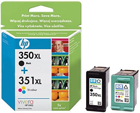 Hewlett Packard Ink Cartridge No 350xl And 351xl Multi Pack Bürobedarf Schreibwaren