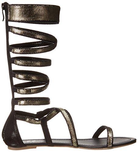Ellie Shoes Womens 015-isis Gladiator Sandaal Zwart / Goud