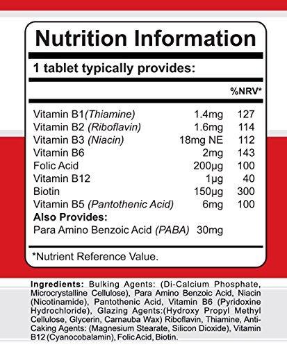 Comprimidos Vitamina B Complex con PABA de G-Biotics ~ Suplemento EXTRA de ALTO GRADO: Amazon.es: Salud y cuidado personal