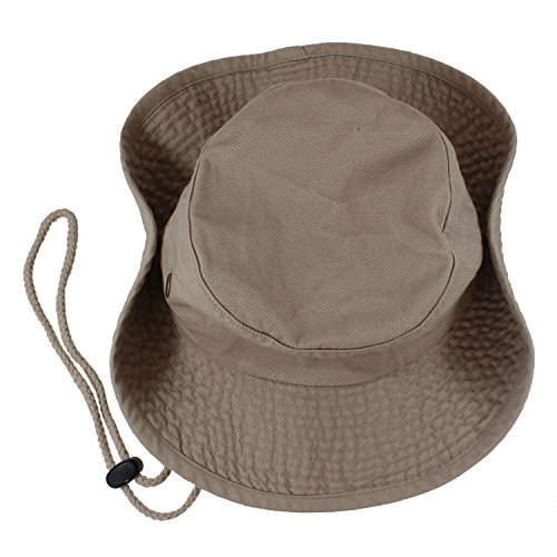 Gelante 100% Cotton Stone-Washed Safari Booney Sun Hats 1910-Khaki-L/XL - http://coolthings.us