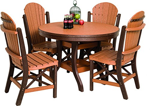 Poly Lumber Patio Furniture Set Including 1 Round Table (36