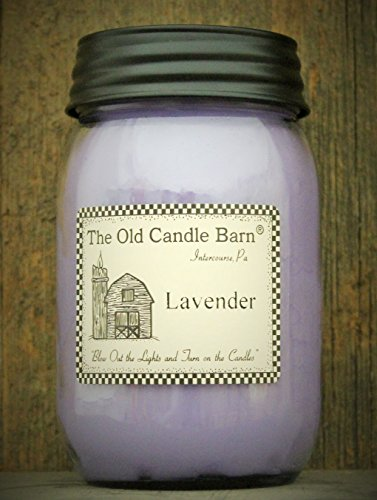Lavender 16 Oz Jar Candle - Made in the USA - Blow out The Light And Turn On The Candles! (Turn Out The Lights Light A Candle)