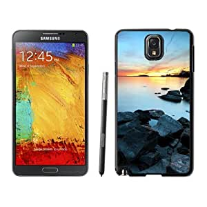 NEW Unique Custom Designed Samsung Galaxy Note 3 N900A N900V N900P N900T Phone Case With Industrial Town Lake Sunset_Black Phone Case wangjiang maoyi