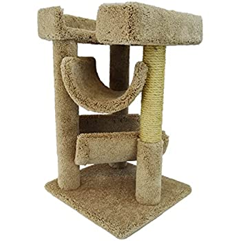 New Cat Condos Premier Cat Scratch and Lounge, Brown