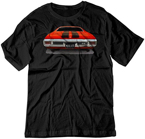 BSW Men's Nice Ass 1970 Chevrolet Chevelle SS American Muscle Shirt MED Black
