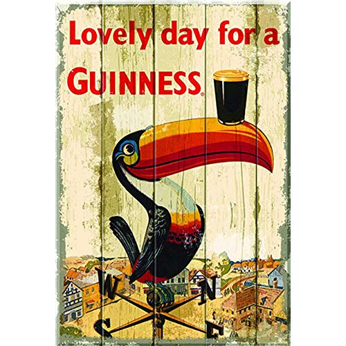 intrbleu Metal Sign Guinness Picture Metal Poster 30×20cm Tin Sign Vintage Wall Art Plaque Retro Look Sign for Home Decor Wall Hanging Metal Picture ()