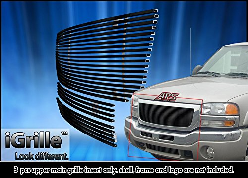 - Black Stainless Steel eGrille Billet Grille Grill For 2003-2006 GMC Sierra 1500/2500HD/3500 Combo