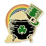 PinMart's Pot of Gold Irish Top Hat Rainbow St. Patricks Day Enamel Lapel Pin