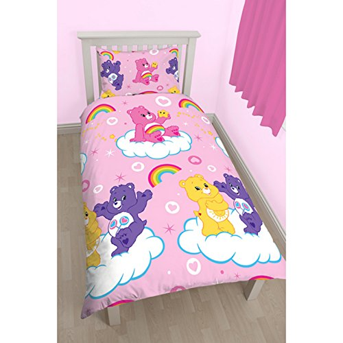 care-bears-childrens-girls-official-share-reversible-single-duvet-twin-pink