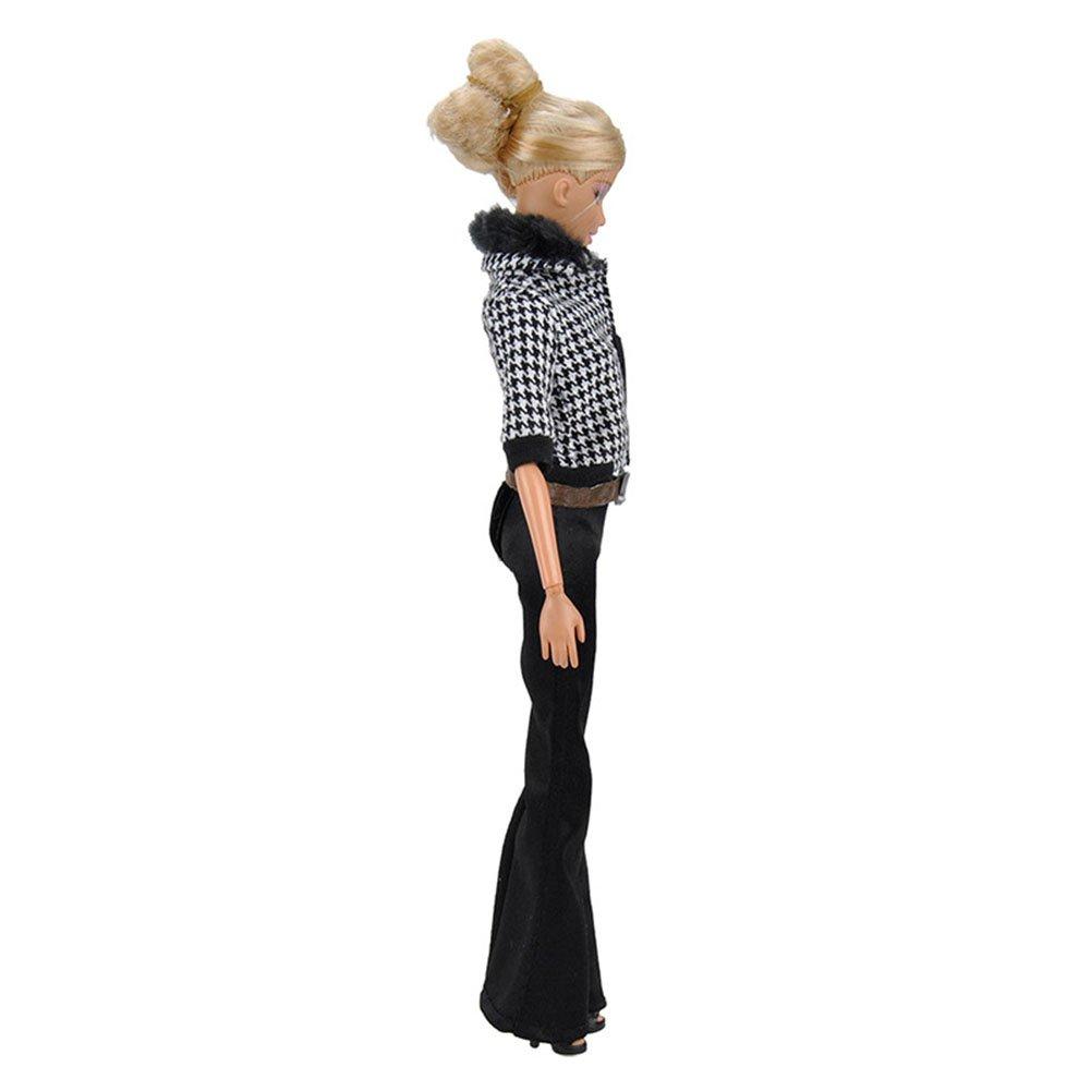 Eleganantamazing - Pantalones de Invierno para muñeca (Estilo Informal, Pantalones de chándal + Bolso + Zapatillas para muñeca Barbie): Amazon.es: Hogar