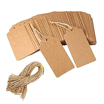 100pcs Kraft Paper Gift Tags Label for Wedding Hanging Tag Party Favor White