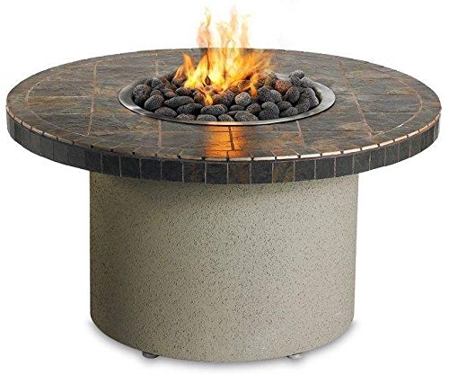Lynx Sedona By Falcon Gray Circular Gas Fire Pit Table, Propane