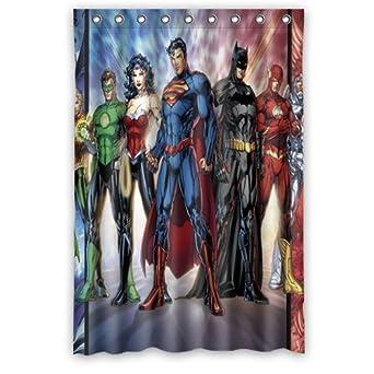 Curtains Ideas comic shower curtain : Amazon.com: Custom Dc Comics Justice League Superheroes Comics ...