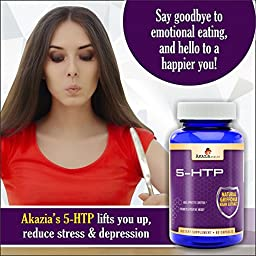 5HTP 200mg Time Release Appetite Suppressant and Control for Weight Loss Pills, Stress Relief and Mood Support Griffonia Simplicifolia Bean Extract 60caps