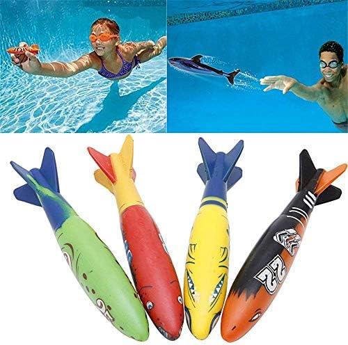 Haneasy Toypedoプールのゲームの魚雷おもちゃ、4個の1セットToypedoの盗賊プールのダイビングゲームの夏