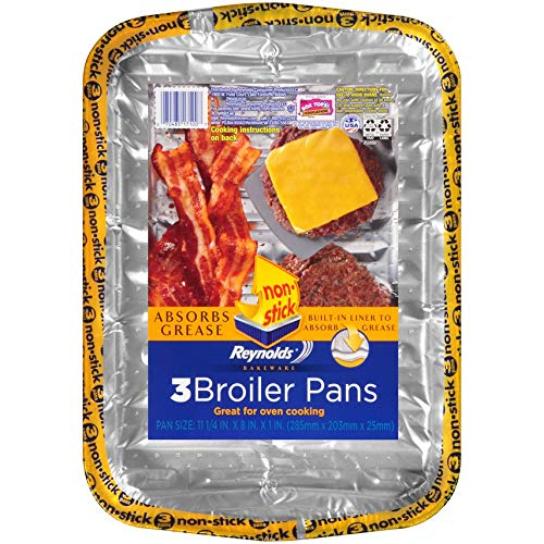 Reynolds Bakeware Disposable Broiler Pan - 11x8'', 3Count by Reynolds (Image #6)