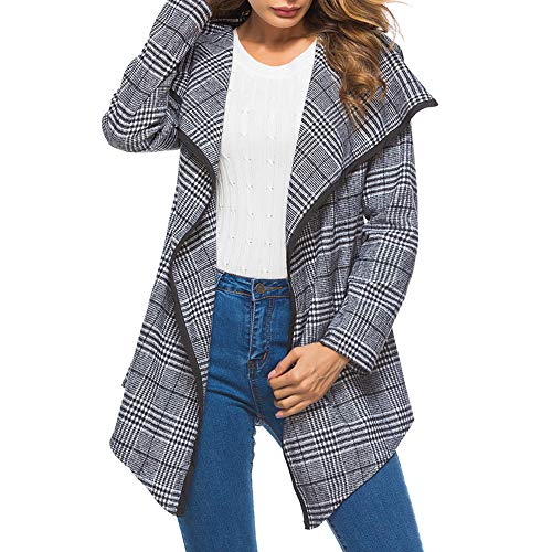 HYIRI Halloween Womens Ladies Winter Lattice Ruffle Lapel Warm Coat