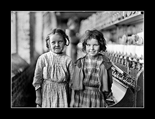 8 x 10 All Wood Framed Photo Lewis Hine Mill girls Tifton Georgia 1909 Child Labor