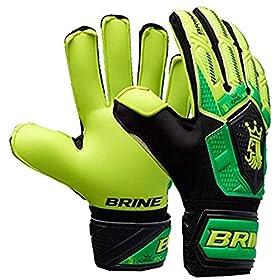 Varzist Goalkeeper Gloves Brine King Match 3X Soccer Goalie Glove Finger Save Protection Spines