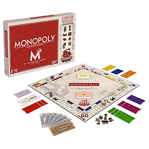Monopoly 80Th Anniversary Collectible Edition Board Game
