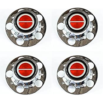 Ford Ranger Bronco II Explorer Chrome Wheel Center Caps Red center set of 4