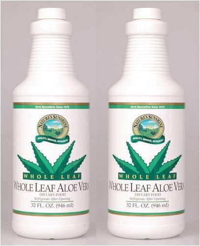 Naturessunshine Aloe Vera Whole Leaf Herbal Food Supplements 32 fl. oz (Pack of 2) Review