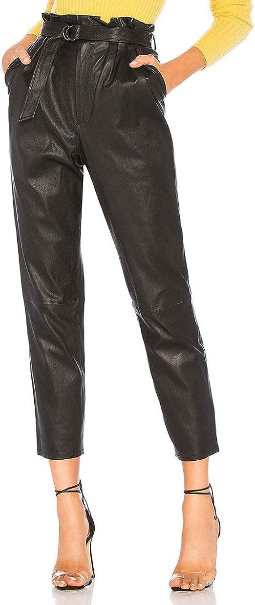 Men/'s Strappy Black Slim Fit Lace Up Pants Skinny Pencil Mens Punk Trousers 2019