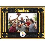 Pittsburgh Steelers Art Glass Horizontal Frame