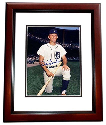 Dick Tracewski Signed - Autographed Detroit Tigers 8x10 inch Photo MAHOGANY CUSTOM FRAME - 3x World Series Champion