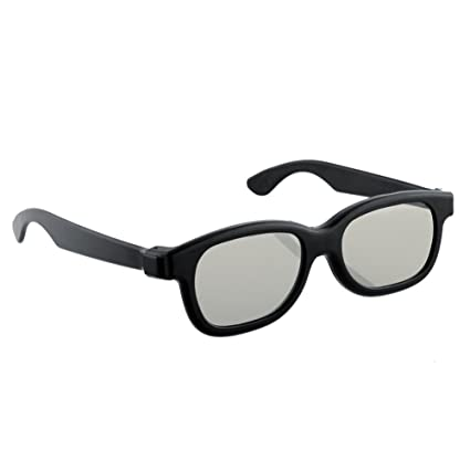 a88c47ef791 Image Unavailable. Image not available for. Color  Funnytoday365 Black  Round Polarized 3D Glasses Movie Dvd Lcd Video Game Theatre Tv ...