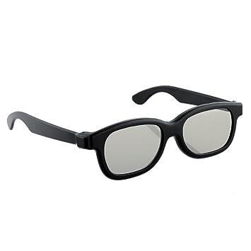 ea3657abb17 Amazon.com  Funnytoday365 Black Round Polarized 3D Glasses Movie Dvd Lcd  Video Game Theatre Tv Theatre Movie  Home Audio   Theater