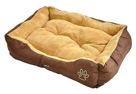 Cama para perro / Cojín para perro Carlo - marrón - 90 x 70 cm -