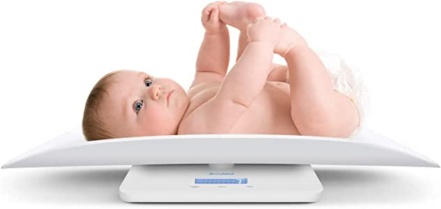 AccuMed Baby Scale, Pet Scale, Multi-Function Toddler Scale, Digital Baby Scale, Blue Backlight, Weight and Height Track