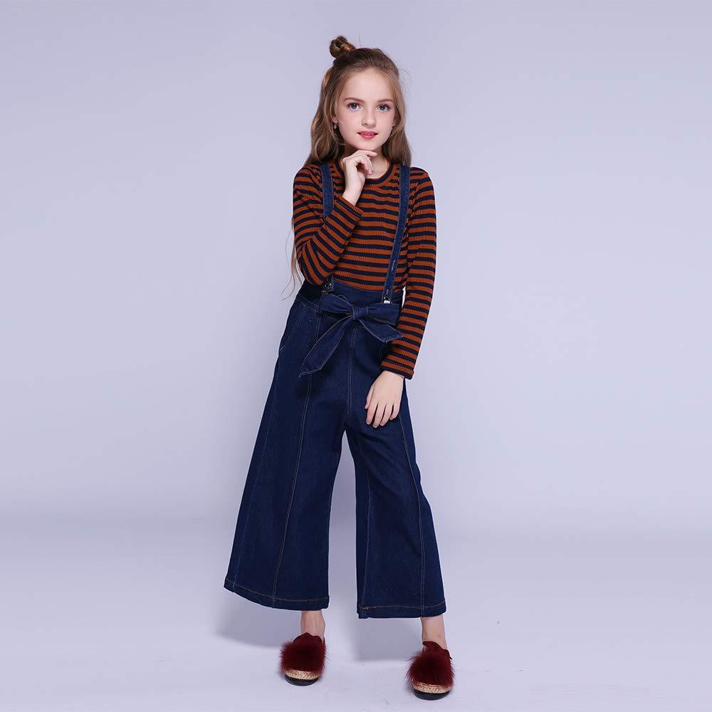 Kseniya Kids Girls Sweatshirt+Overalls 2 Piece Set Girl Clothes Cotton Long Sleeve