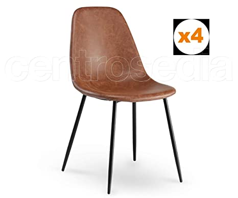 Sedie Sala Da Pranzo Ecopelle : Centrosedia set di sedie micky vintage industriale design