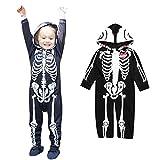 Software : Clearance! Napoo Toddler Infant Baby Boy Skull Skeleton Zipper Hooded Romper Jumpsuit Outfits (18M, Black)