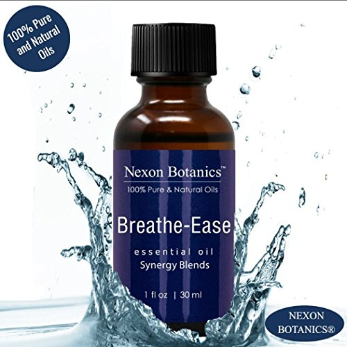 Breathe Ease Essential Oil Synergy Blend - 100% Pure and Natural Therapeutic Grade Blends from Eucalyptus, Rosemary, Peppermint and Niaouli Oils - Best Aromatherapy Breathing from Nexon Botanics(30ml) by Nexon Botanics (Image #1)