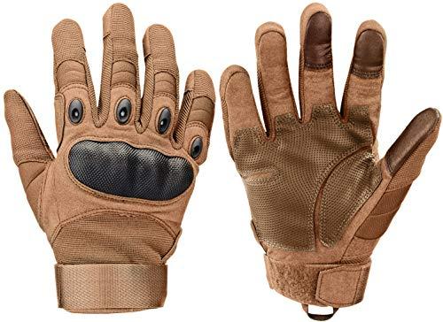 Xnuoyo Gloves Gummi Hart Knöchel Vollfinger und Halbe Fingerhandschuhe Schutzhandschuhe Touchscreen Handschuhe für Motorrad Radfahren Jagd Klettern Camping