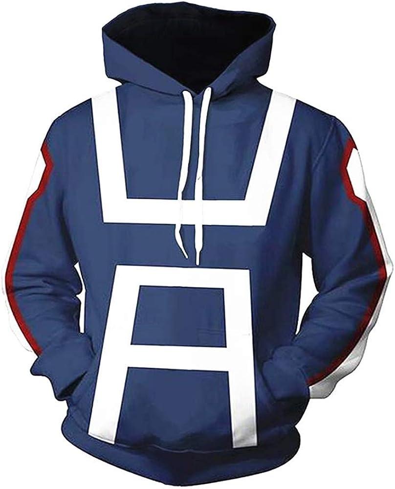 OWEN OBRIEN My Hero Academia 3D Hoodie Sweatshirt Drawstring Pullover Costume for Cosplay