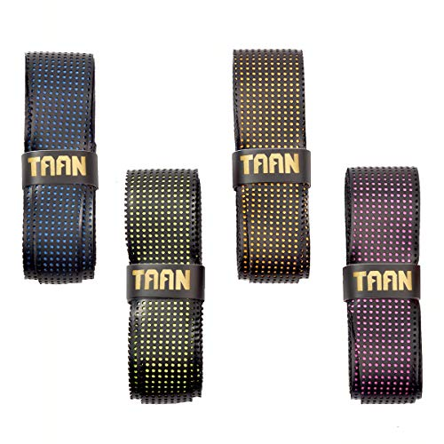 (FJZLIFE Tennis Racket Grip in The TAAN Series-Classic -Perforated Super Absorbent-Ultra Cushion Replacement Tennis Overgrip for Badminton,Squash, Baseball, Table Tennis,Bike and More)
